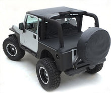Load image into Gallery viewer, Tonneau Cover - For Oem Soft Top W/ Channel Mount - Denim Black  87-91 Wrangler