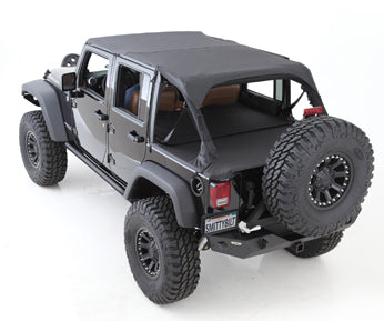 Tonneau Cover - For Oem Soft Top W/ Channel Mount - Denim Black 97-06 Wrangler