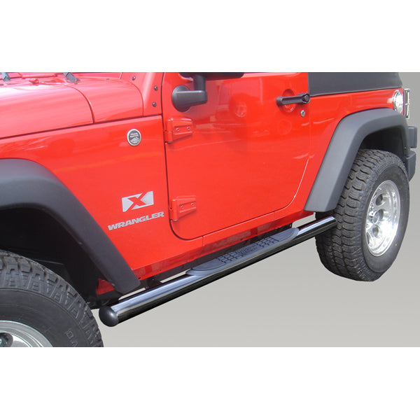 3-In Round Side Steps, Blk, 07-16 2-Door Wrangler