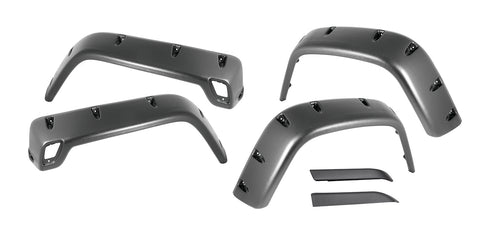 6 Piece All Terrain Fender Flare Kit; 97-06 Jeep Wrangler TJ