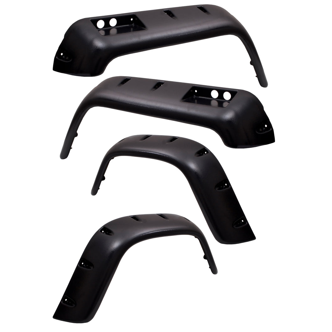 6 Piece All Terrain Fender Flare Kit; 76-86 Jeep CJ Models