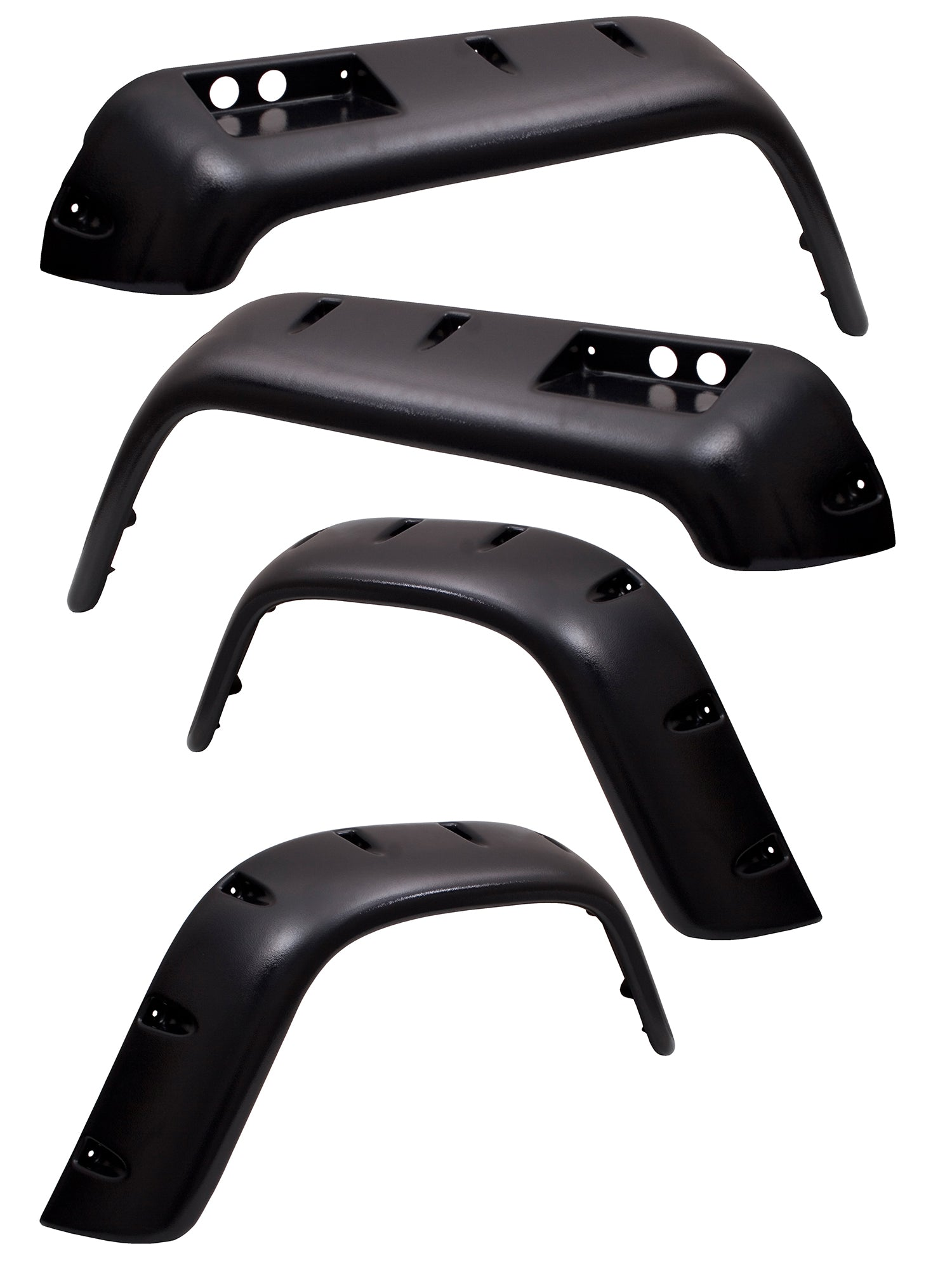 6 Piece All Terrain Fender Flare Kit, 4.75 Inch; 76-86 Jeep CJ Models