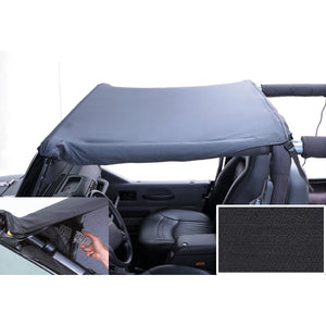 Pocket Brief Top, Black Denim; 97-06 Jeep Wrangler TJ