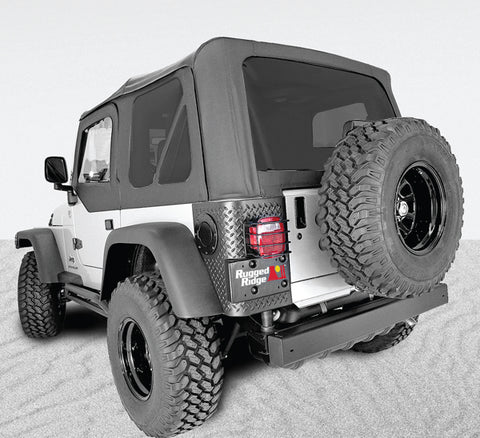 XHD Soft Top, Black, Tinted Windows, Sailcloth; 97-06 Jeep Wrangler TJ