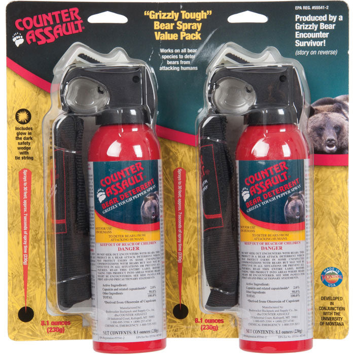 Twin Value Pack Counter Assault Bear Deterrent 8.1 oz