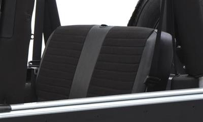 Neoprene Seat Cover Set Front&Rear - Black   CJ/YJ 76-90