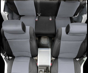 Neoprene Seat Cover Set Front&Rear - Charcoal CJ/YJ 76-90