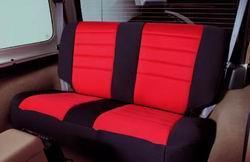 Neoprene Seat Cover Set Front&Rear - Red  CJ/YJ 76-90