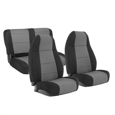 Neoprene Seat Cover Set Front&Rear - Charcoal  YJ 91-95