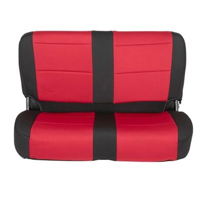 Neoprene Seat Cover Set Front&Rear - Red  TJ 03-06