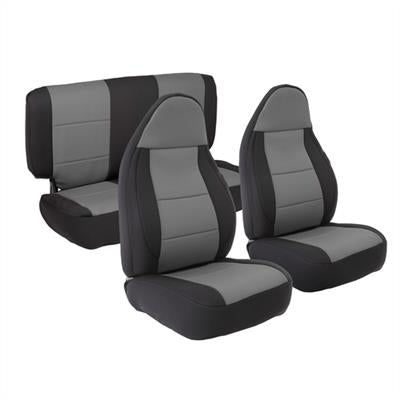 Neoprene Seat Cover Set Front&Rear - Charcoal  TJ 97-02