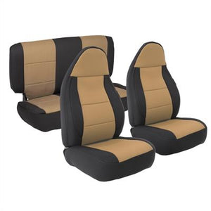 Neoprene Seat Cover Set Front&Rear - Tan TJ 97-02