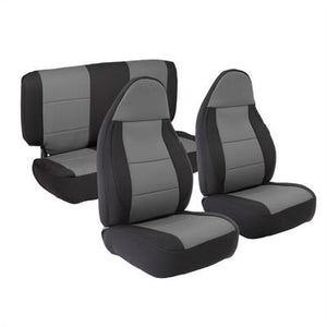 Neoprene Seat Cover Set Front&Rear - Charcoal  TJ 03-06