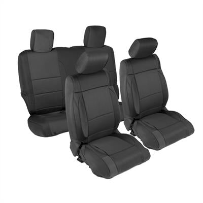 Neoprene Seat Cover Set Front&Rear - Black   JK 07-12