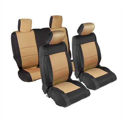 Neoprene Seat Cover Set Front&Rear - Tan  JKU 13-18