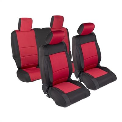 Neoprene Seat Cover Set Front&Rear - Red  JK 13-18