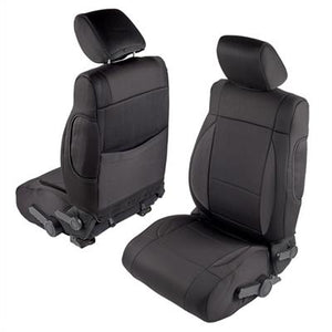 Neoprene Seat Cover Set Front&Rear - Black  JKU 13-18