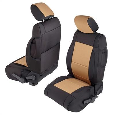 Neoprene Seat Cover Set Front&Rear - Tan  JKU 07