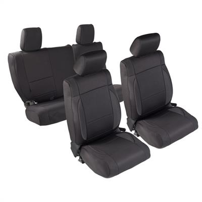 Neoprene Seat Cover Set Front&Rear - Black  JKU 08-12