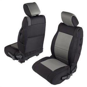 Neoprene Seat Cover Set Front&Rear - Charcoal   JKU 08-12