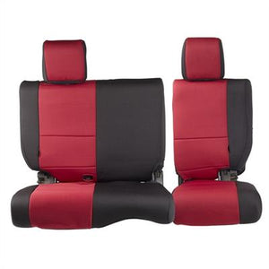 Neoprene Seat Cover Set Front&Rear - Red   JKU 08-12