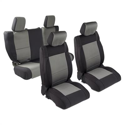 Neoprene Seat Cover Set Front&Rear - Charcoal  JKU 07
