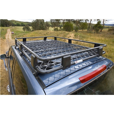 Land/ FJ Cruiser - Alloy Roof Rack Basket 87 x 44in - with Mesh Floor