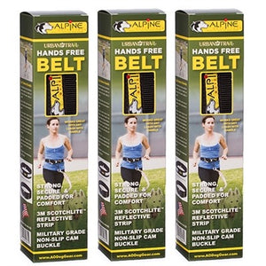 Urban Trail® Hands Free Belt w/Jogger's Attachment & Carabiner, Reflective Bands