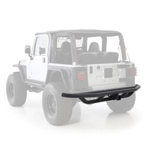 SRC Rear Bumper W/Hitch - Black Textured YJ/TJ 87-06