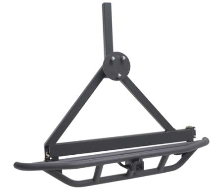 SRC Rear Bumper W/Tire Carrier - Black Textured YJ/TJ 87-06