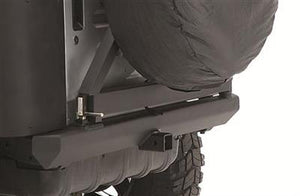 SRC Classic Rear Bumper W/Hitch & Tire Carrier - Black Textured YJ/TJ 76-06