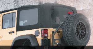 Soft Top -Premium Canvas - OEM Replacement W/Tinted Windows