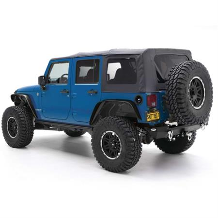 Soft Top - Oem Replacement W/Tinted Windows - Black Diamond JKU 07-09