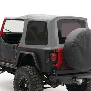 Soft Top - Oem Replacement W/Tinted Windows - Denim Gray  YJ 87-95