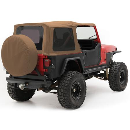 Soft Top - Oem Replacement W/Tinted Windows - Denim Spice  YJ 87-95