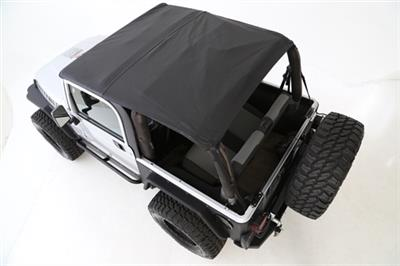 BOWLESS COMBO TOP W/TINTED WINDOWS - BLACK DIAMOND JEEP, 07-17 WRANGLER (JK) 2 DOOR