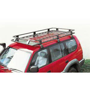 Steel Roof Rack Basket with Mesh Floor, 72in x 44in