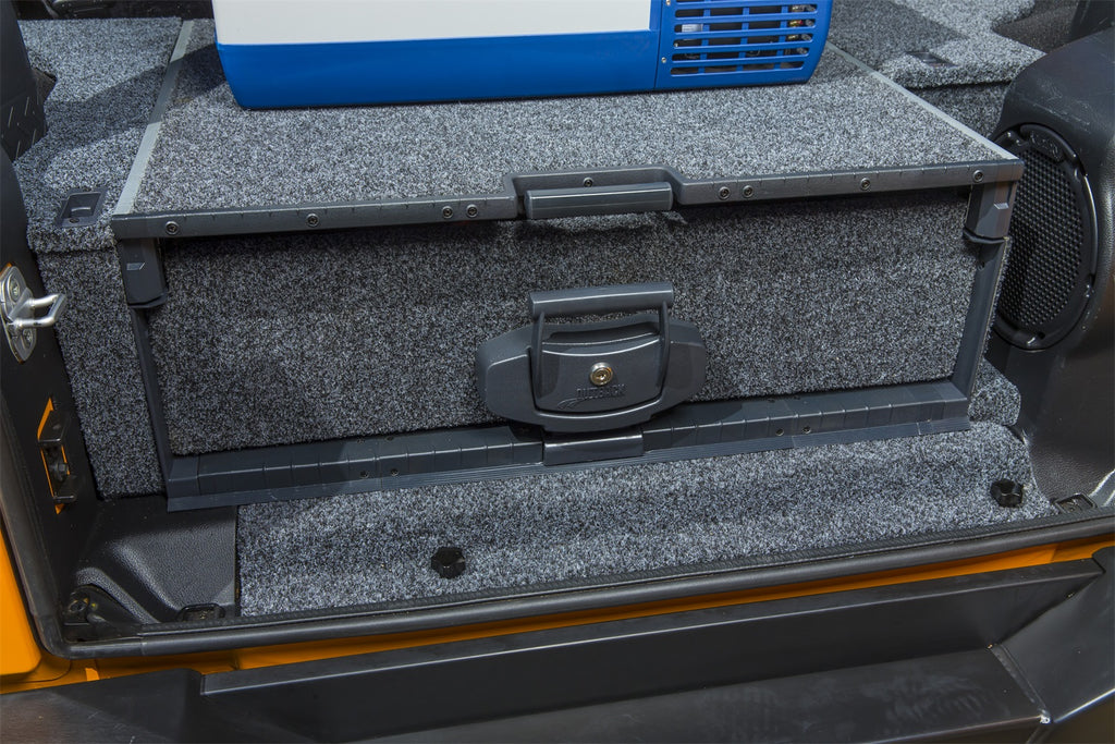 JKU - Outback Solutions Roller Drawer with Roller Floor System, with Plastic Trim and Inegrated Subwoofer