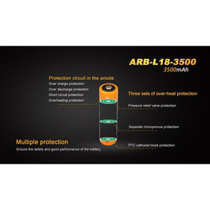 ARB-L18-3500 Rechargeable 18650 Battery