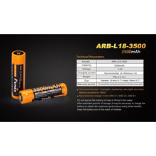 Load image into Gallery viewer, ARB-L18-3500 Rechargeable 18650 Battery