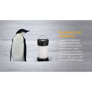 CL25R camping lantern has excellent cold resistance