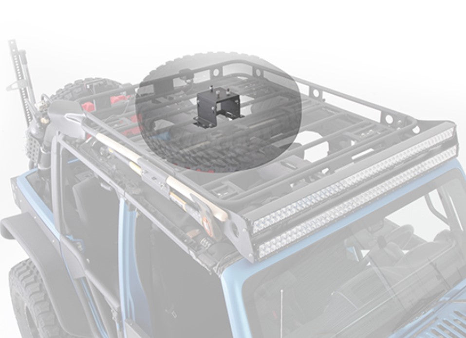 Defender Roof Rack Spare Tire Mount  5X4.5 Lug Pattern