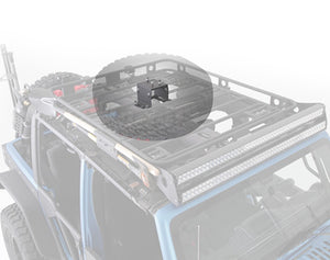 Defender Rack Roof Rack Spare Tire Mount  8X6.5 Lug Pattern