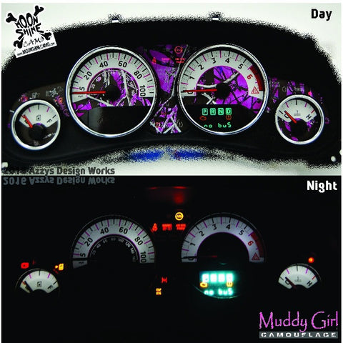 JK/JKU Gauge Kit - Muddy Girl Camouflage