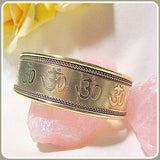 """Spiritual Energy""  Om Copper & Brass Cuff Bracelet"