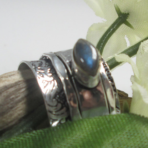 Labradorite Spin Me Round Meditation Sterling Silver Ring