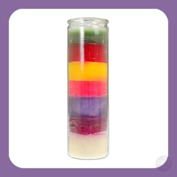 7 Chakra 7-Day Jar Candle Candles Mystical Moons