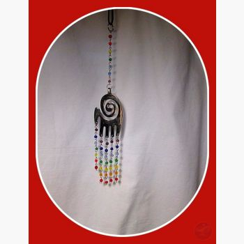 7 Chakra Spiral Hand Mobile Wind Chime Mystical Moons