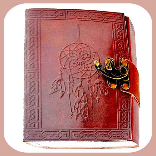 Dream Catcher Leather Latched  Journal