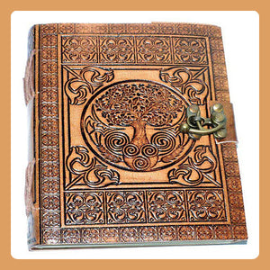 Tree of Life Latched Leather Journal